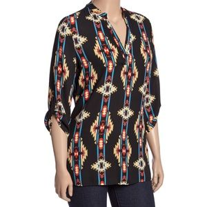 Geometric Blouse 3x